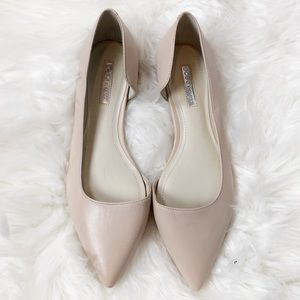 BCBGeneration Curly nude ballet flat shoes sz 7.5
